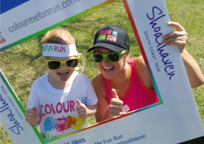 Colour Me Fun Run - Instagram sign