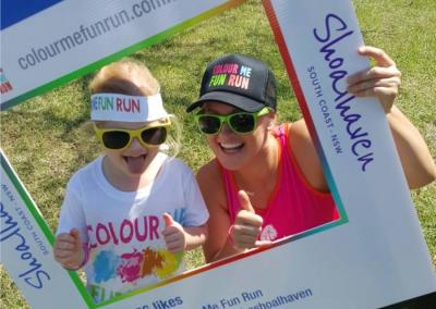 Colour Me Fun Run - Instagram sign
