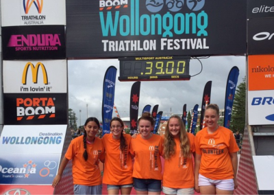 wollongong tri finish arch